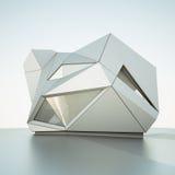 Modern building. 3d rendering image Vector Illustration