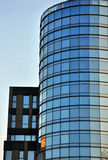 Modern building. Modern buisiness building,detail,mirror Royalty Free Stock Photo
