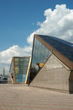 Modern building. Modern exhibition, office and hotel building in Odessa harbor area Stock Photography