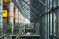 Modern building. Inside in a metal glass modern building Stock Image