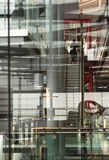 Modern building. Multiple layers and reflection of a modern building Royalty Free Stock Images