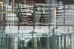 Modern building. Multiple layers and reflection of a modern building Stock Image