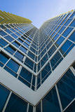 Modern building. Perspective shot of a modern building. Shot upwards royalty free stock image