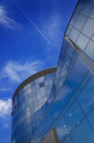 Modern building. High modern building on a background of the blue sky royalty free stock photo