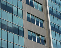 Modern building. Modern green glass building closeup Royalty Free Stock Photo
