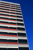 Modern Building. Close up of a modern building over blue sky Royalty Free Stock Images