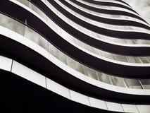 Modern Building. A wavy exterior design of a modern building Stock Photo