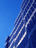 Modern building. In barcelona. Glass against blue sky with space for text Royalty Free Stock Photo