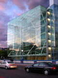 Modern building. London, modern building, sunset clouds background Stock Images