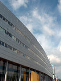 Modern building. Glass and alluminium fascia - city Royalty Free Stock Images