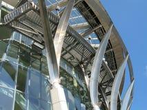 Modern building. Glass and metal stock photos