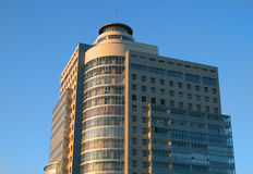 Modern building. And some reflections at the big blue sky Royalty Free Stock Images
