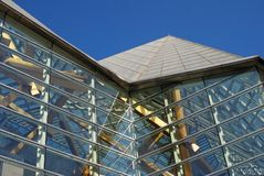 Modern building. Glass-walled modern building detail Stock Photo