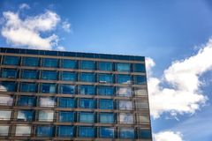 Modern building against the blue sky Stock Images