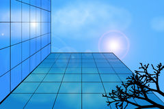 Modern building against the sky Royalty Free Stock Photos