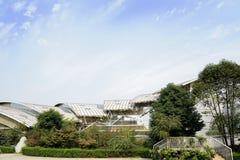 Modern building against sunny sky Stock Photos