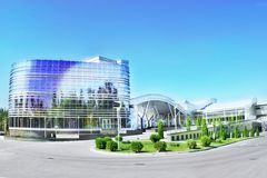 Modern building airport in Kyrgyzstan Stock Photo