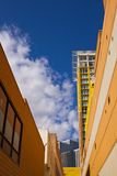 Modern Building in Alley Royalty Free Stock Photos