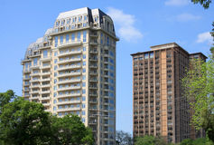 Modern  building apartment. It is group of modern apartment buildings on day Royalty Free Stock Photo