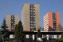 Modern building apartment Stock Photos