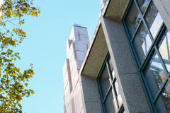 Modern Building Architecture. Exterior design of a modern building in a clear day Stock Photos