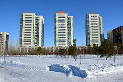 Modern building in Astana, Kazakhstan Royalty Free Stock Image