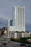 Modern building in Austin, Texas. Sunset time in downtown Ausitn Texas Stock Photo