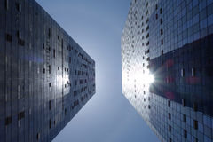 Modern building on the backlight Stock Images