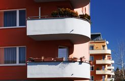 Modern building with balconies Royalty Free Stock Images