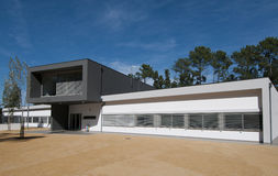 Modern building. Beautiful modern building and Europe Royalty Free Stock Photography