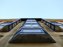 Modern Building from below of Balcony Stock Image