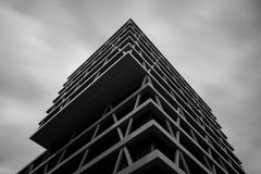 Modern building in Berlin. Modern steal and concrete building shot with long exposure Stock Photo