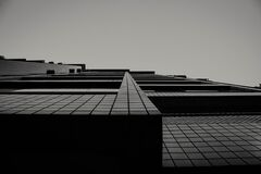 Modern building in black and white Royalty Free Stock Image
