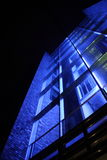 Modern building blue light Stock Image