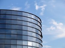 Modern building and blue sky. New office building and cloudy sky Stock Photography
