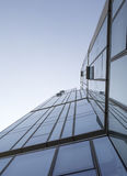 Modern building and blue sky. Modern Building from the bottom view in Beijing, China royalty free stock photography