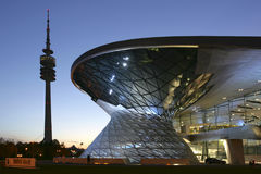 Modern Building BMW Welt and Olympic Tower, Munich Stock Images