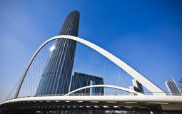 Modern building and bridge Royalty Free Stock Photos