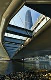 Modern building and bridge Stock Photos