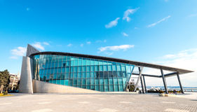 Modern building of business centre on Baku National Seaside Park Stock Photo