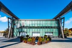 Modern building of business centre on Baku National Seaside Park Royalty Free Stock Photography
