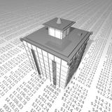 Modern building on business report Royalty Free Stock Photo