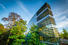 Modern building on the campus of Yale University, in New Haven, Royalty Free Stock Photos