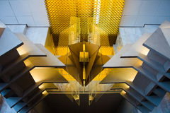 Modern building ceiling. Photo of the modern ceiling Royalty Free Stock Image