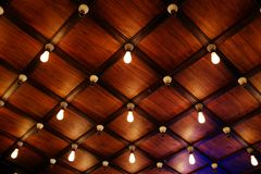 Modern building ceiling geometry. Loft style. royalty free stock photography