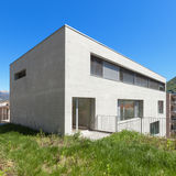 Modern building in cement, exterior Royalty Free Stock Images
