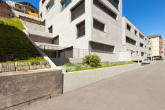 Modern building in cement, exterior Royalty Free Stock Photography