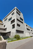 Modern building in cement, exterior Royalty Free Stock Photo