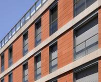 Modern building ceramic material facade Stock Photos