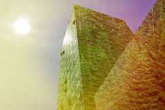 Modern building in the city in bright sunshine Royalty Free Stock Photos